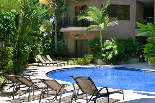 pool at a luxury condo in Jaco, Costa Rica