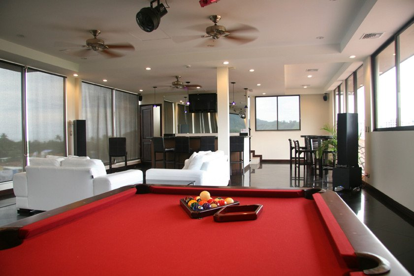 pool table at Riviera Penthouse rental condo in Jaco, Costa Rica