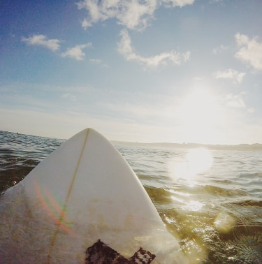 surfboard in the ocean