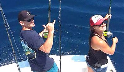 Couple Fishing Los Suenos Costa Rica