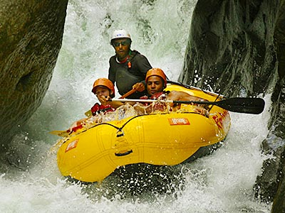 whitewater rafters in Costa Rica