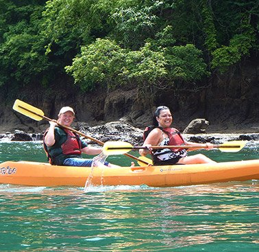 two people in a kayak in costa rica