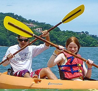 people on a kayak trip in costa rica