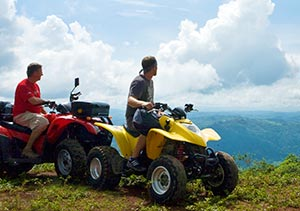 men on an atv tour in costa rica