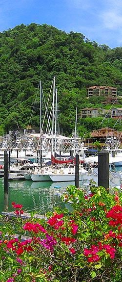 boats in Los Suenos Marina in Costa Rica