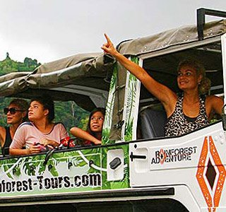people in a van on Rainforest Safari Tours in Costa Rica