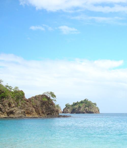 beach with blue sky in Costa Rica