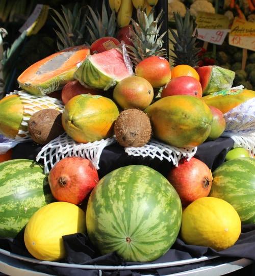 fruit in a market in Costa Rica