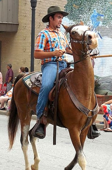 man on a horse in a costa rican parade