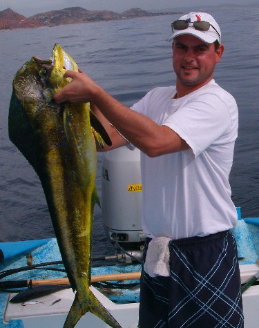 man with dorado in cosat rica