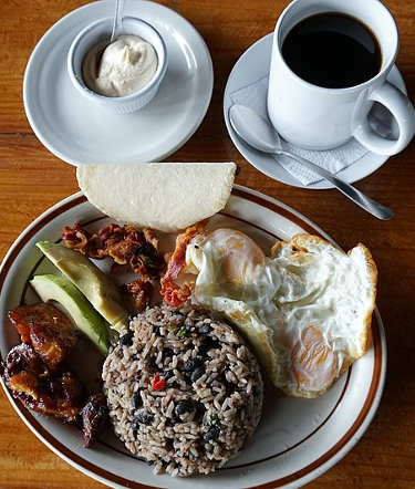 traditional breakfast in Costa Rica